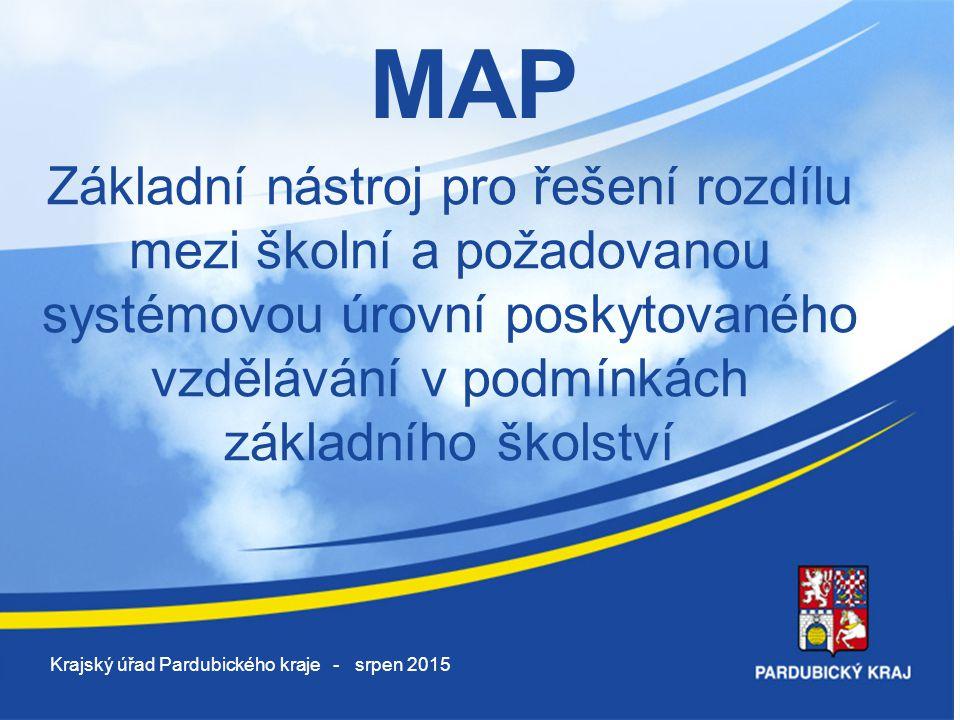 MAP Základní nástroj pro řešení rozdílu mezi školní a požadovanou systémovou úrovní poskytovaného vzdělávání v podmínkách základního školství.