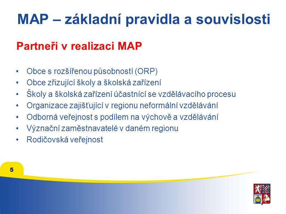 MAP – základní pravidla a souvislosti