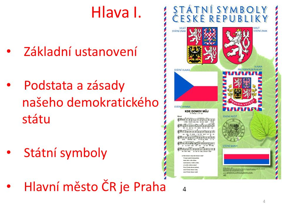 Hlava I. Základní ustanovení Podstata a zásady našeho demokratického