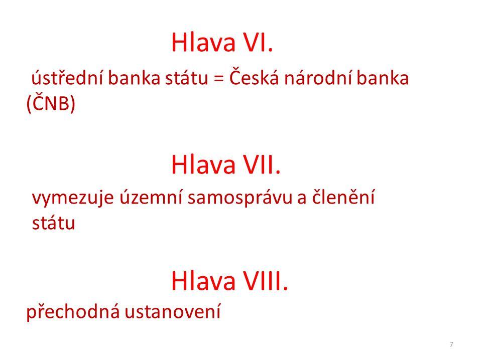 Hlava VI. Hlava VII. Hlava VIII.