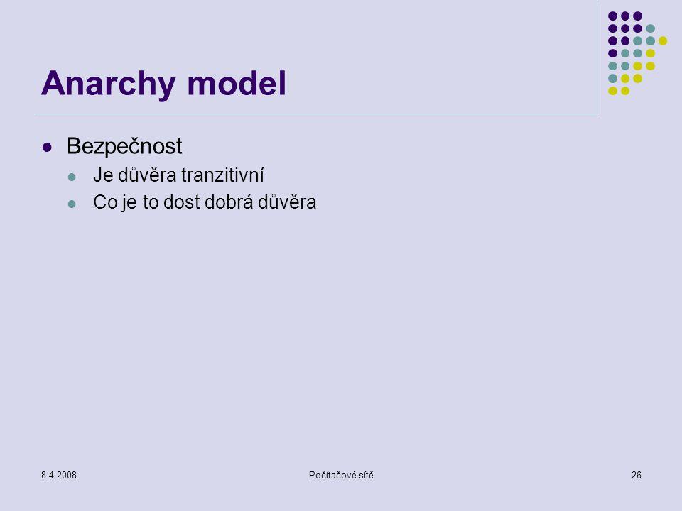 Anarchy model Bezpečnost Je důvěra tranzitivní