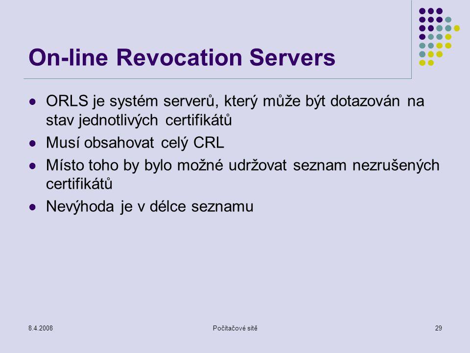On-line Revocation Servers