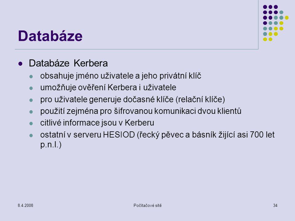 Databáze Databáze Kerbera