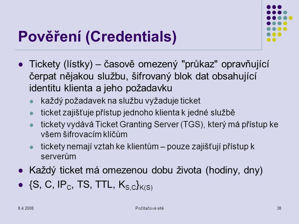 Pověření (Credentials)