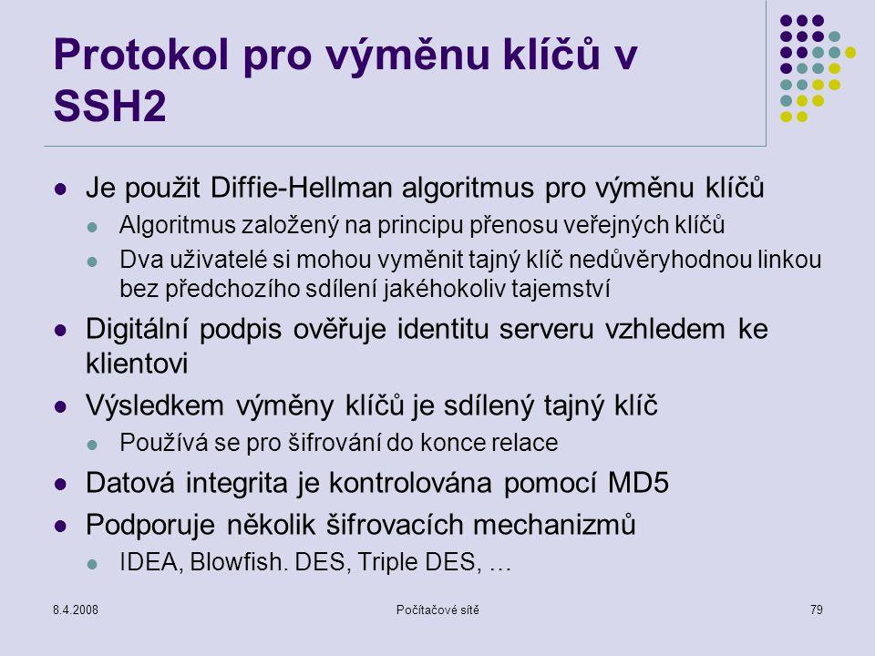 Protokol pro výměnu klíčů v SSH2