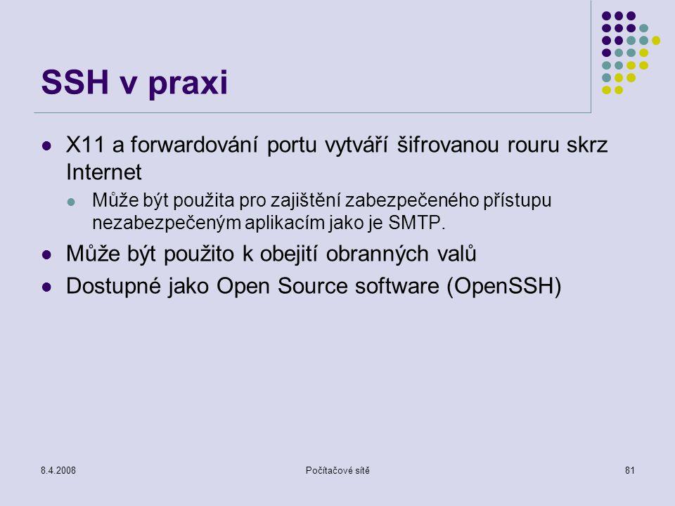 SSH v praxi X11 a forwardování portu vytváří šifrovanou rouru skrz Internet.