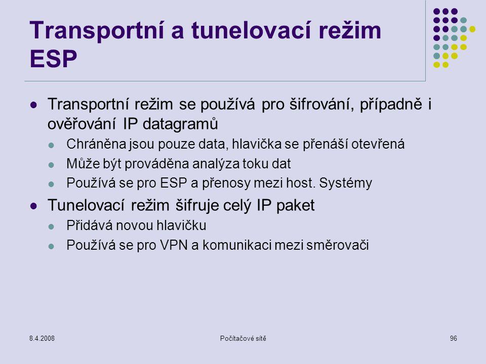 Transportní a tunelovací režim ESP