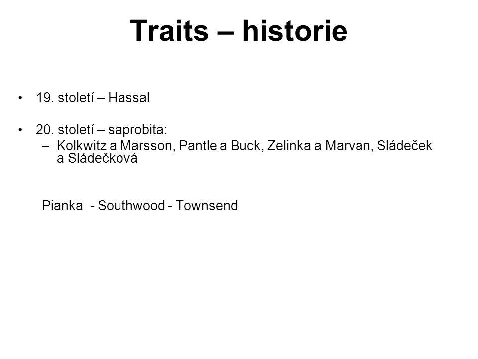 Traits – historie 19. století – Hassal 20. století – saprobita:
