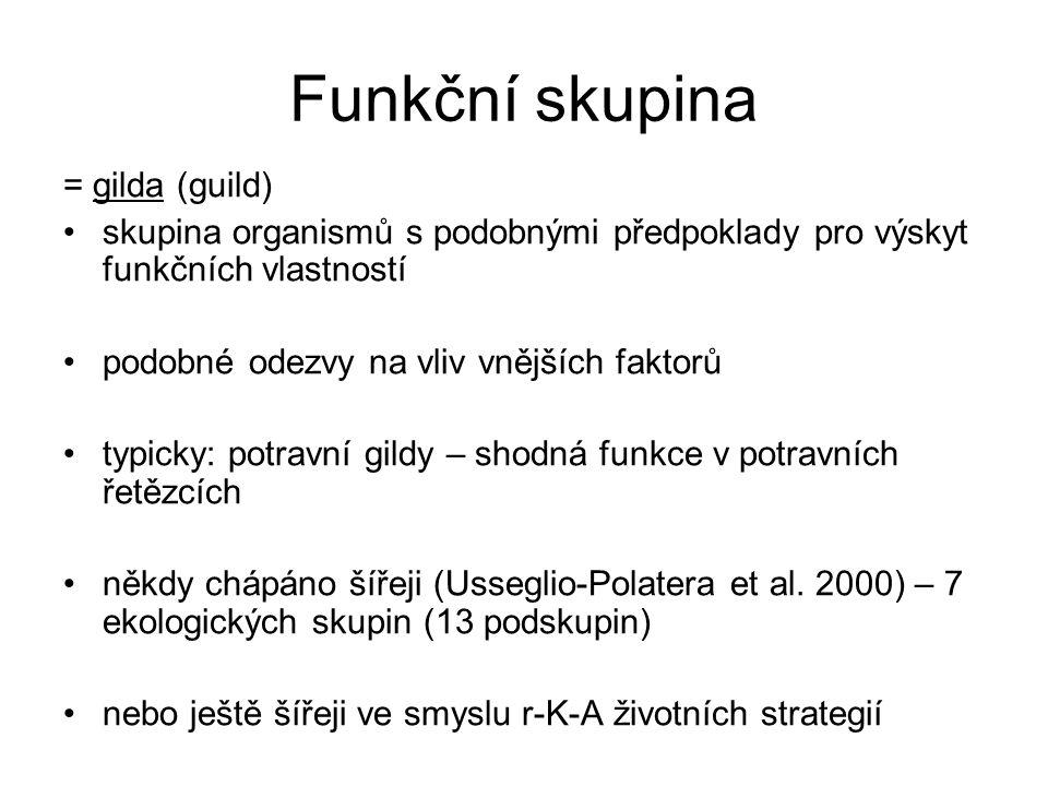 Funkční skupina = gilda (guild)
