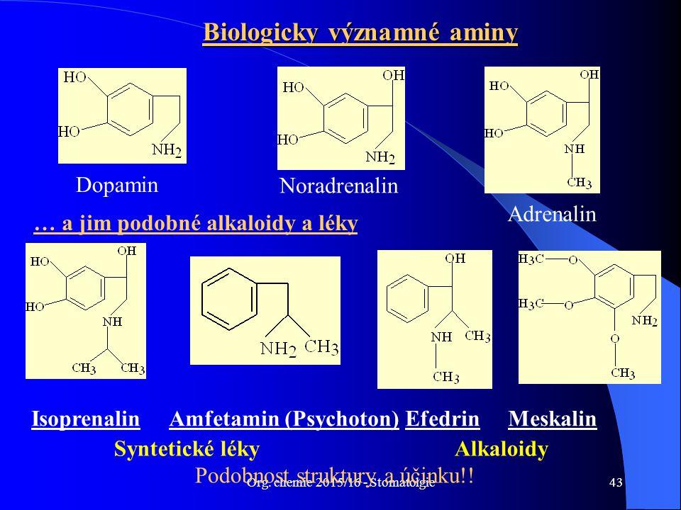 Biologicky významné aminy