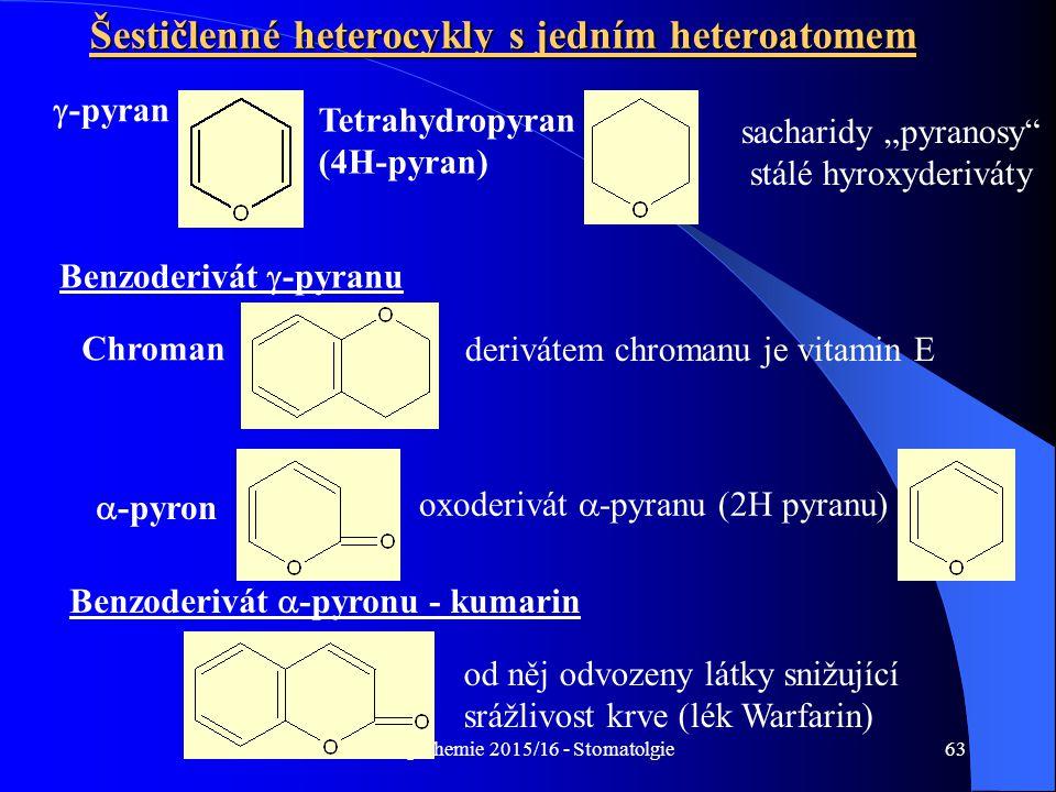 Šestičlenné heterocykly s jedním heteroatomem