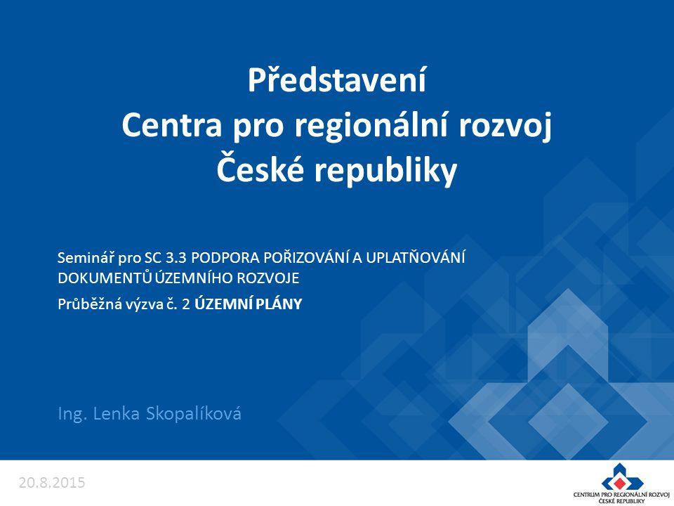Představení Centra pro regionální rozvoj České republiky