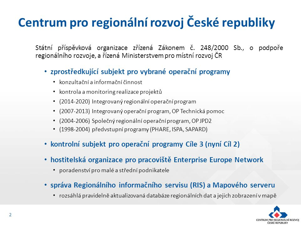 Centrum pro regionální rozvoj České republiky
