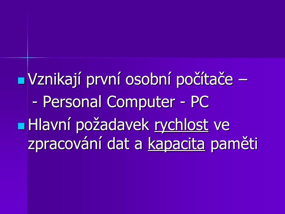 Vznikají první osobní počítače –
