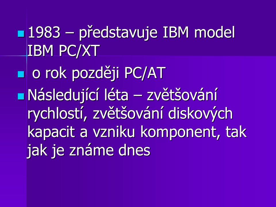 1983 – představuje IBM model IBM PC/XT