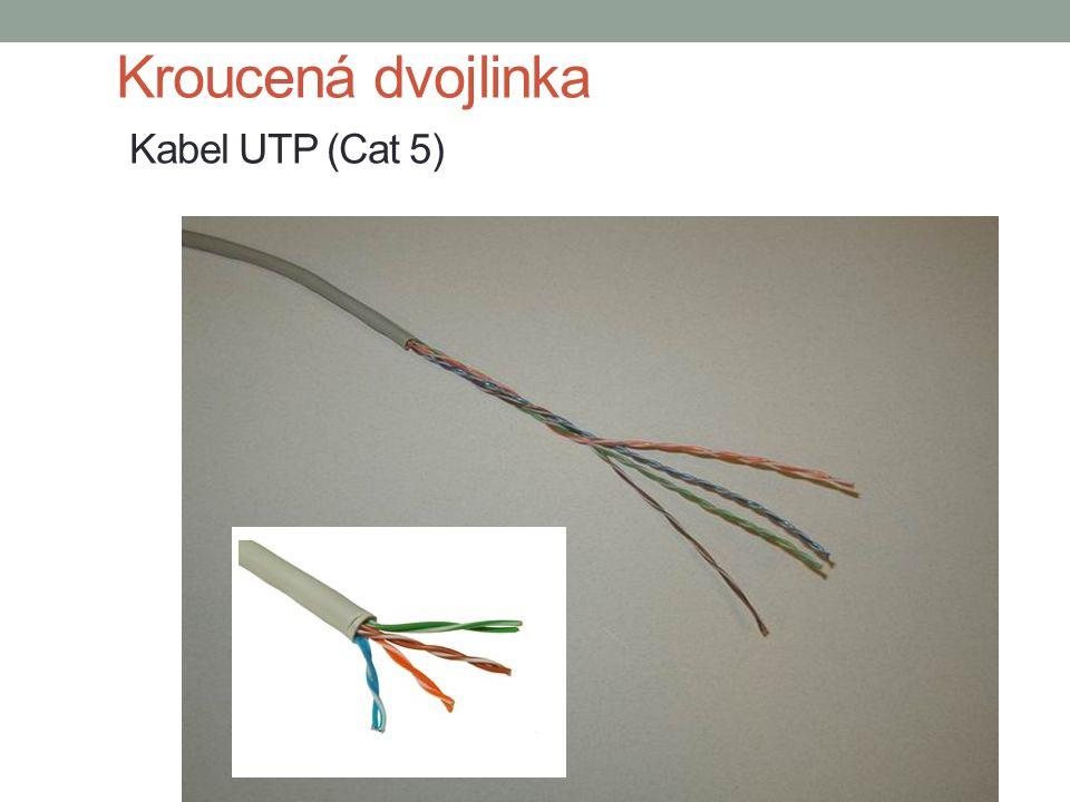 Kroucená dvojlinka Kabel UTP (Cat 5)