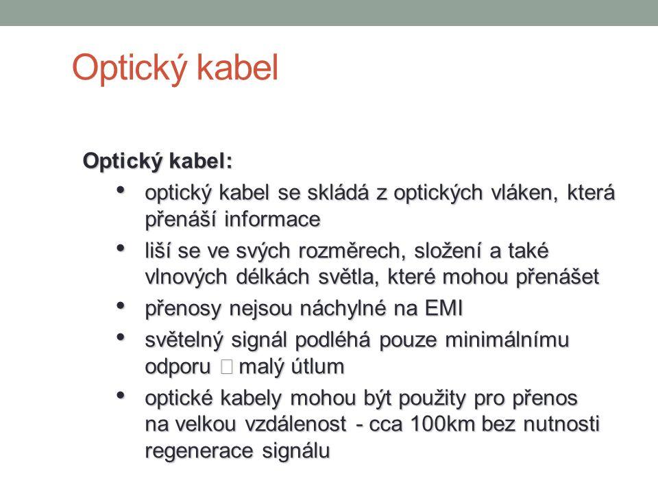 Optický kabel Optický kabel: