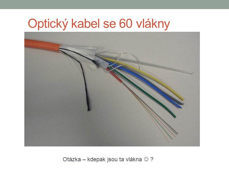Optický kabel se 60 vlákny