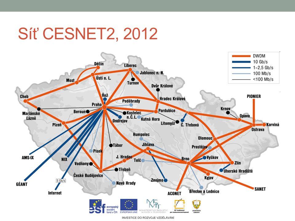Síť CESNET2, 2012