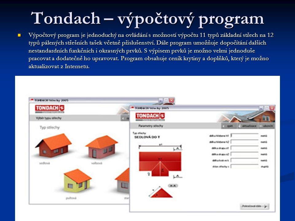 Tondach – výpočtový program
