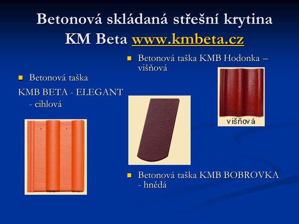 Betonová skládaná střešní krytina KM Beta www.kmbeta.cz