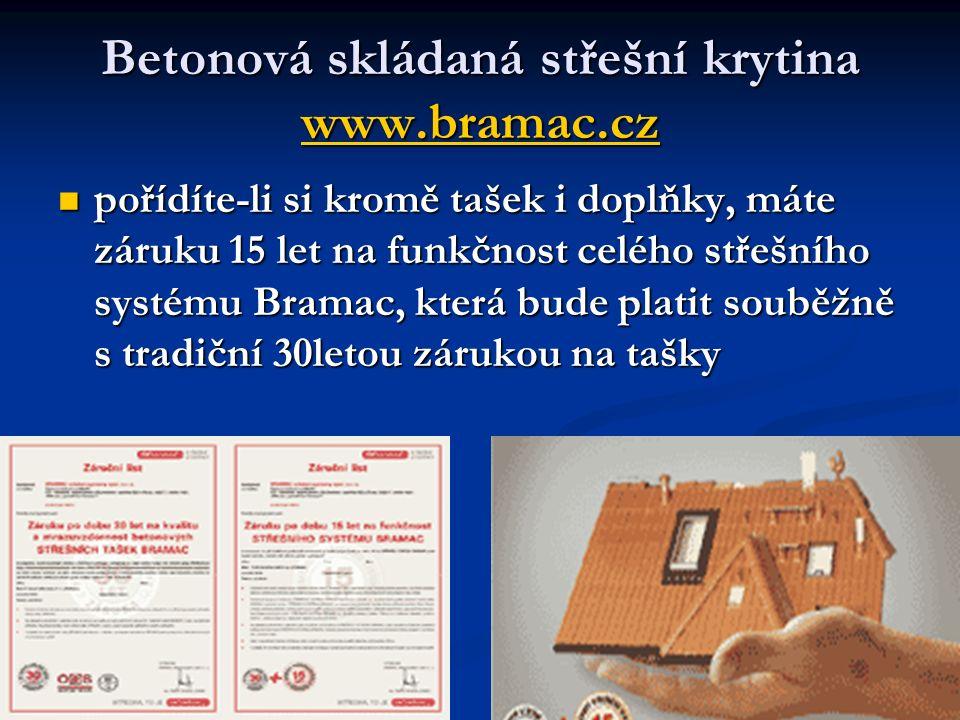 Betonová skládaná střešní krytina www.bramac.cz