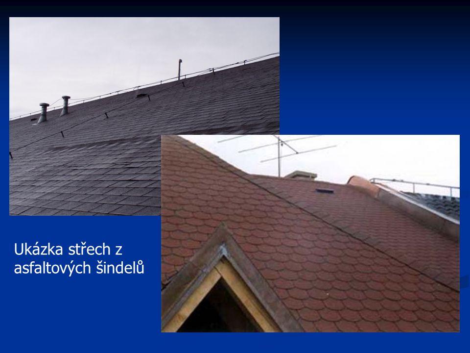 Ukázka střech z asfaltových šindelů