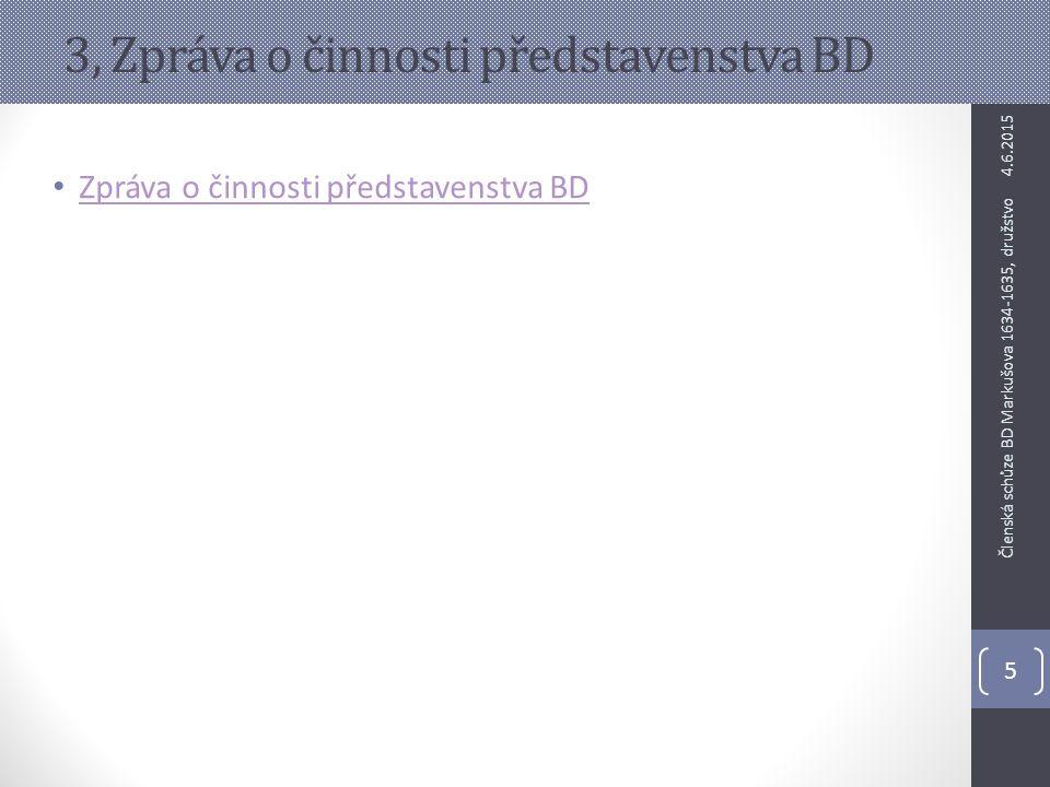 3, Zpráva o činnosti představenstva BD