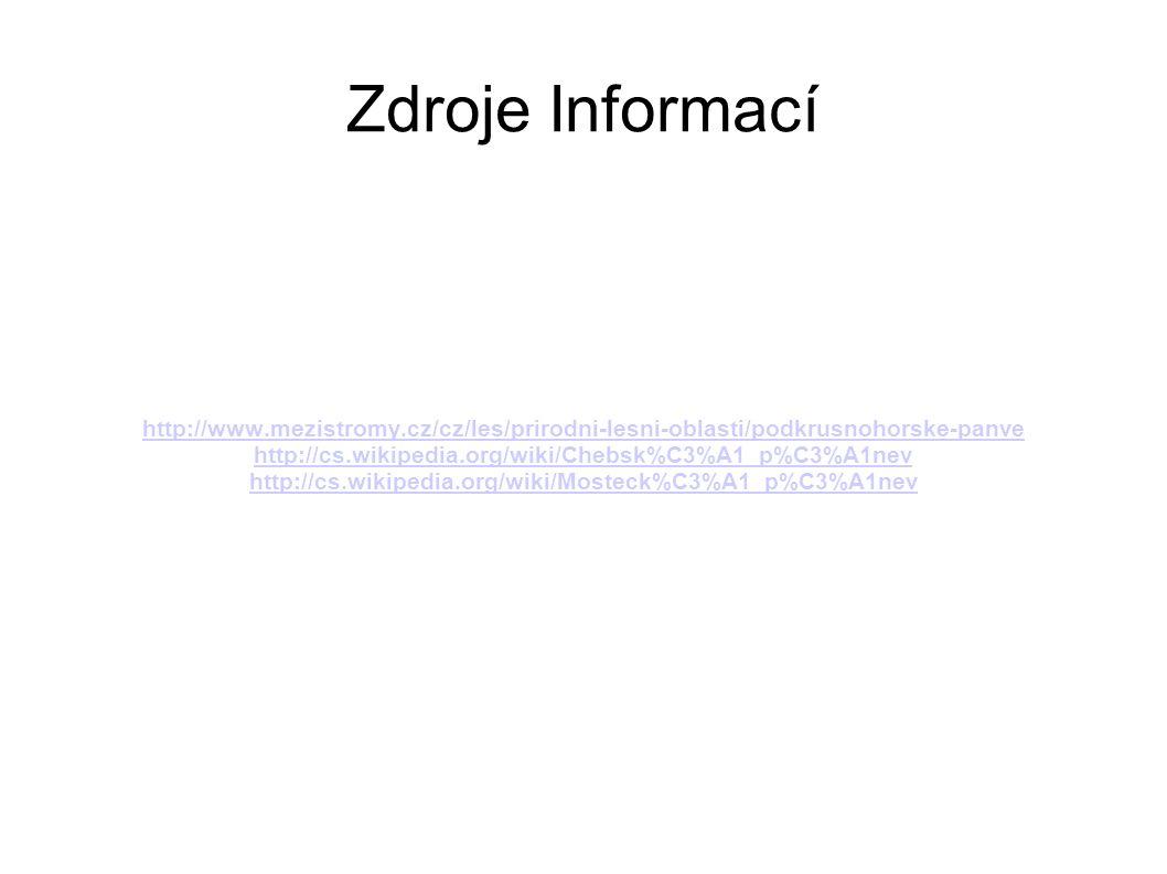 Zdroje Informací http://www.mezistromy.cz/cz/les/prirodni-lesni-oblasti/podkrusnohorske-panve. http://cs.wikipedia.org/wiki/Chebsk%C3%A1_p%C3%A1nev.