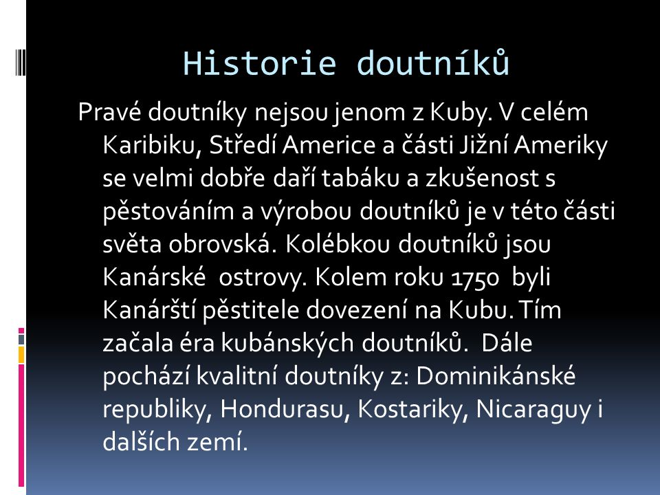 Historie doutníků