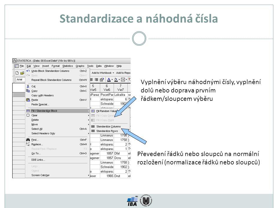Standardizace a náhodná čísla