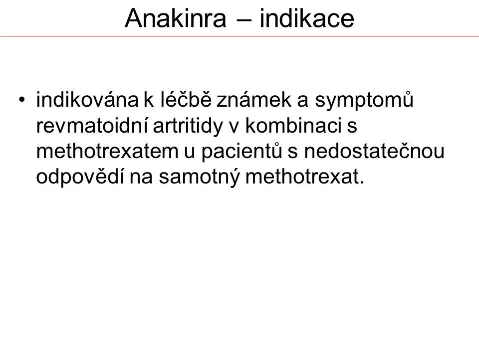 Anakinra – indikace