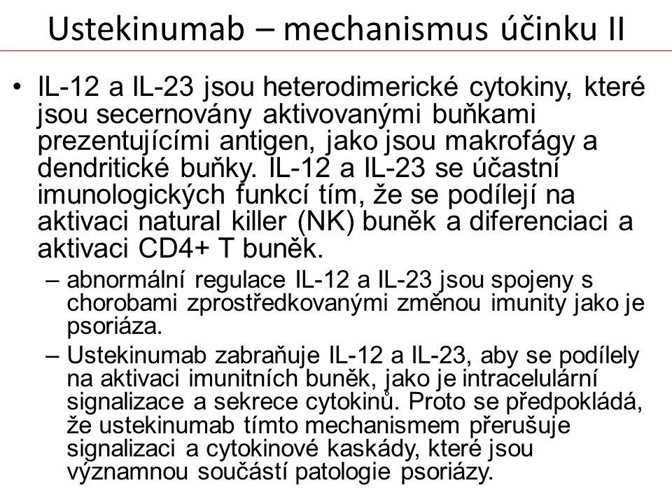Ustekinumab – mechanismus účinku II