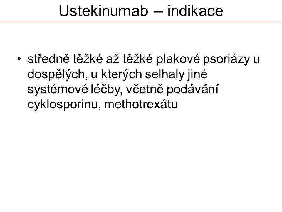 Ustekinumab – indikace