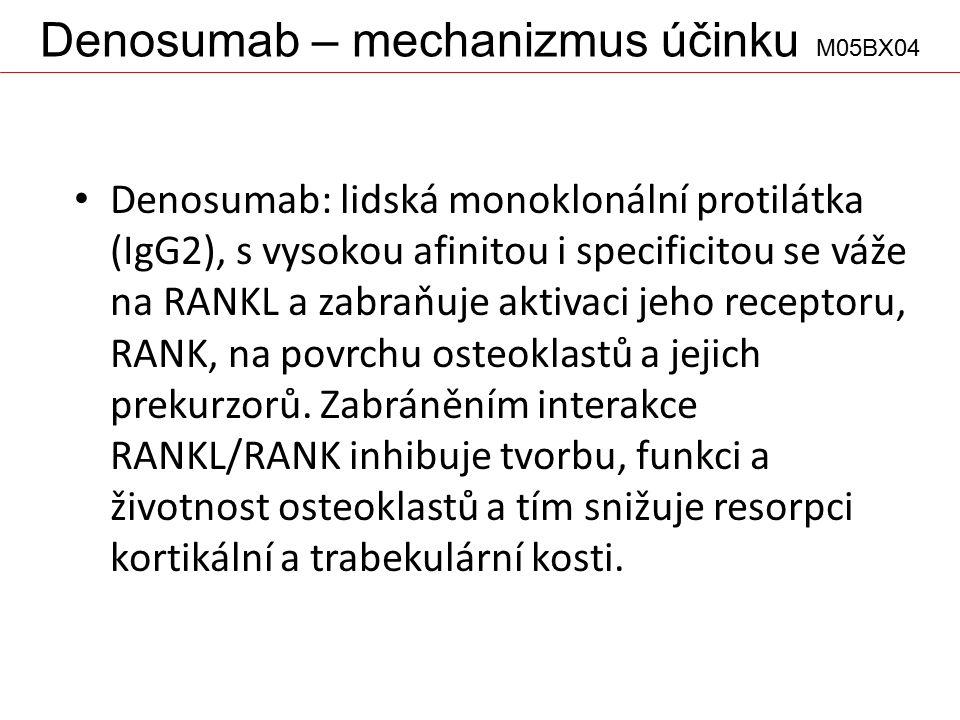 Denosumab – mechanizmus účinku M05BX04