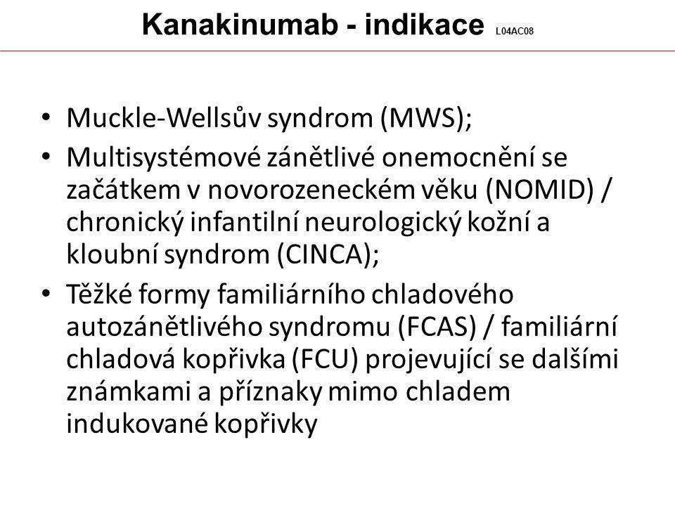 Kanakinumab - indikace L04AC08