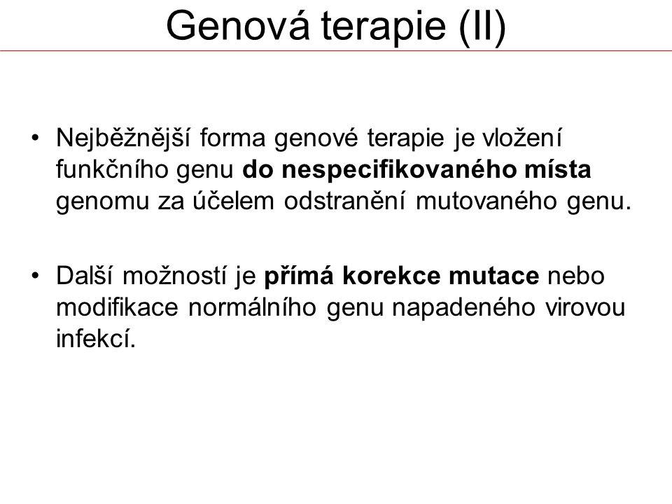 Genová terapie (II)