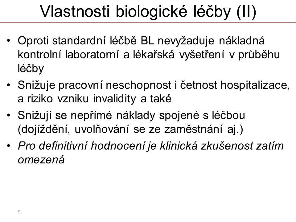 Vlastnosti biologické léčby (II)