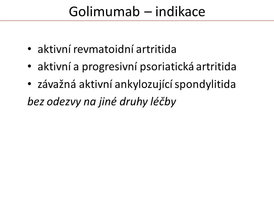 Golimumab – indikace aktivní revmatoidní artritida