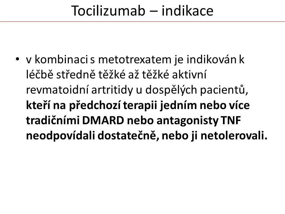 Tocilizumab – indikace