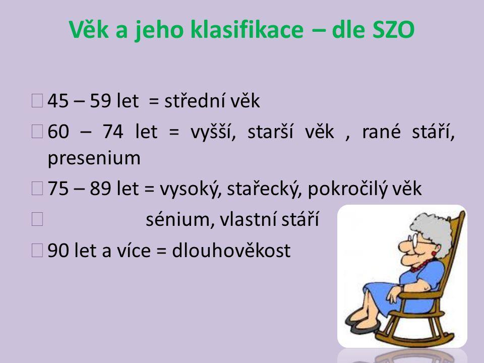 Věk a jeho klasifikace – dle SZO