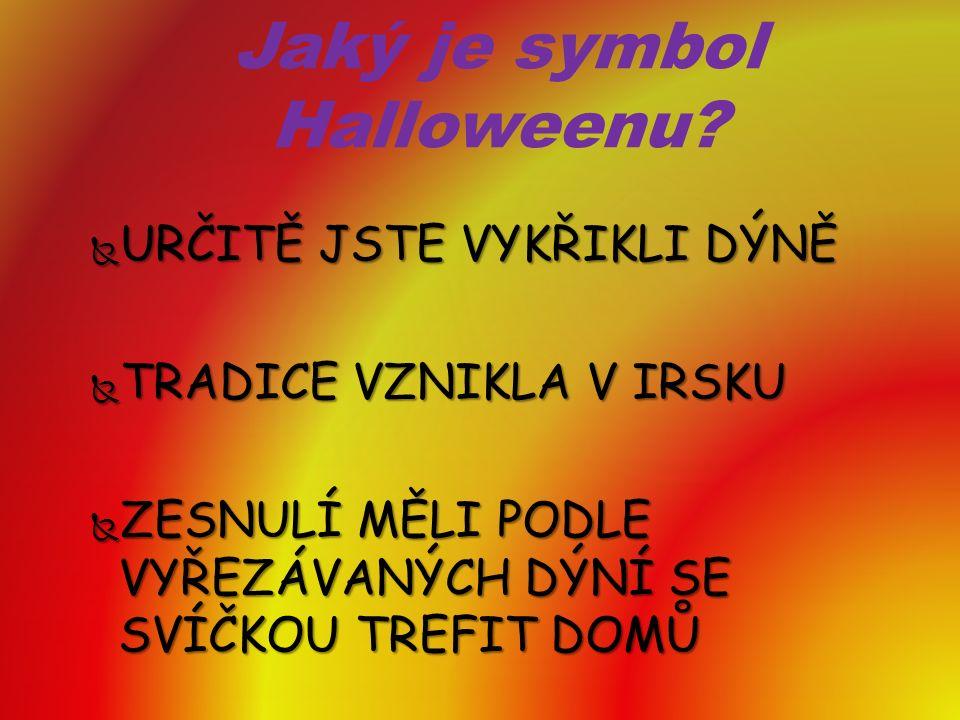 Jaký je symbol Halloweenu