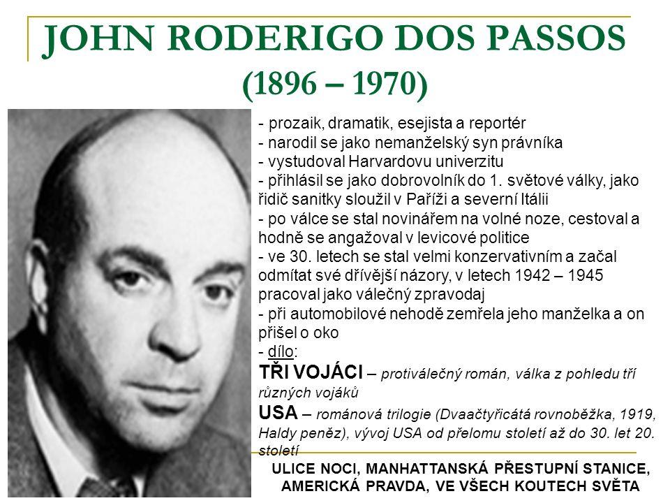 JOHN RODERIGO DOS PASSOS (1896 – 1970)