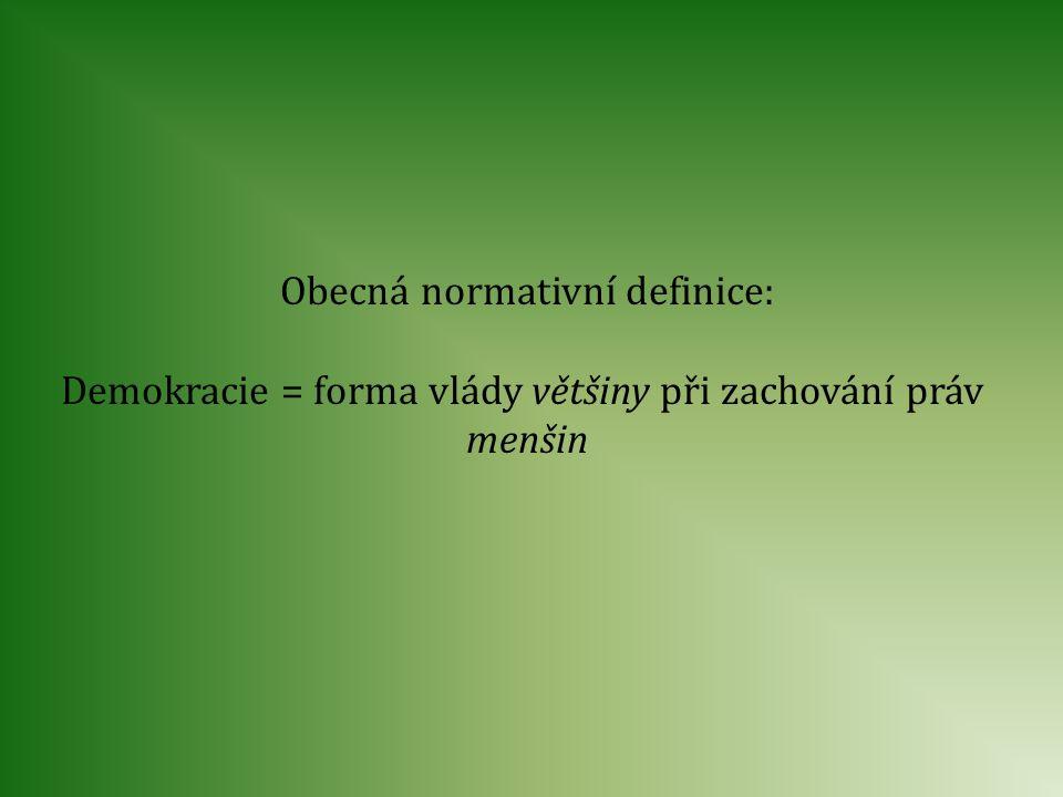 Obecná normativní definice: