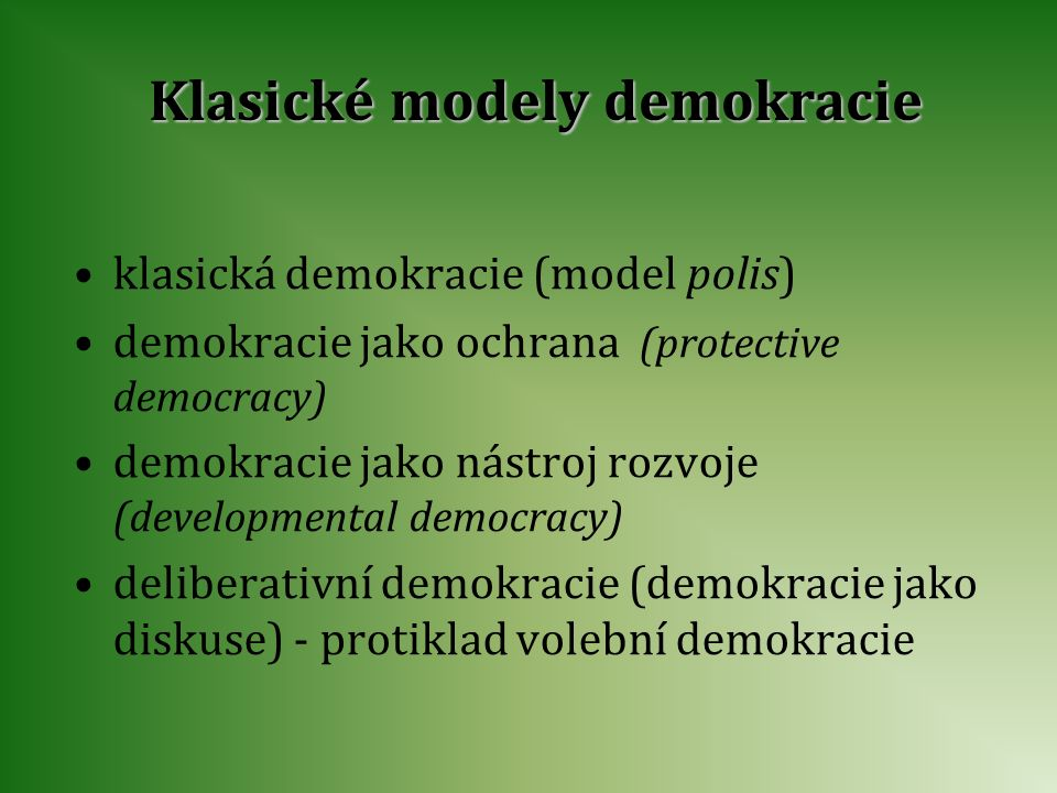 Klasické modely demokracie