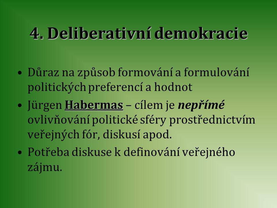 4. Deliberativní demokracie
