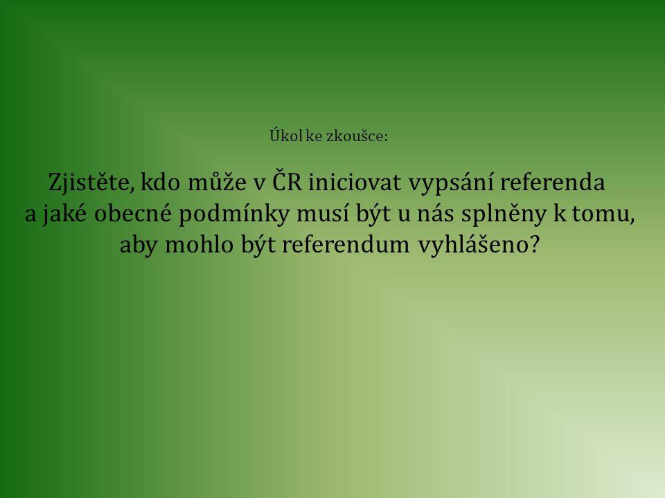 Zjistěte, kdo může v ČR iniciovat vypsání referenda