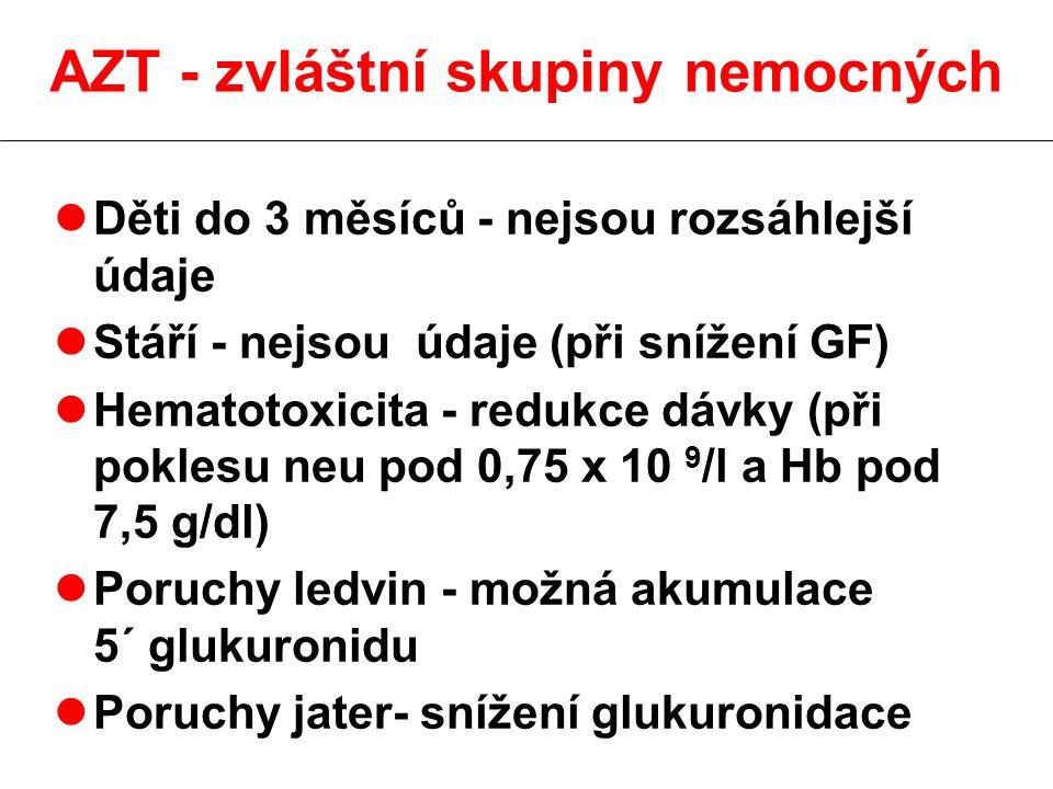 AZT - zvláštní skupiny nemocných