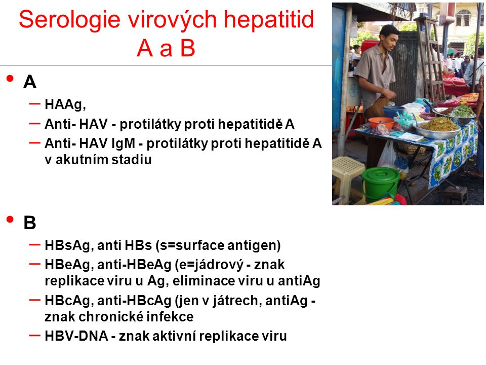 Serologie virových hepatitid A a B