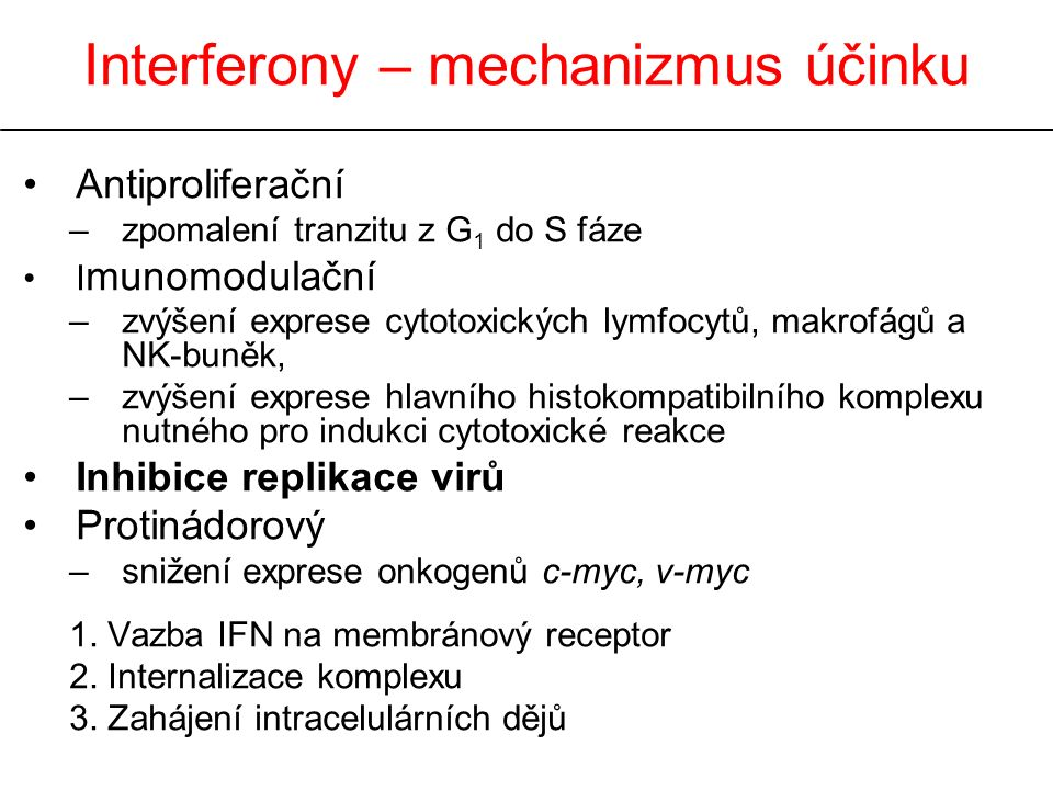 Interferony – mechanizmus účinku